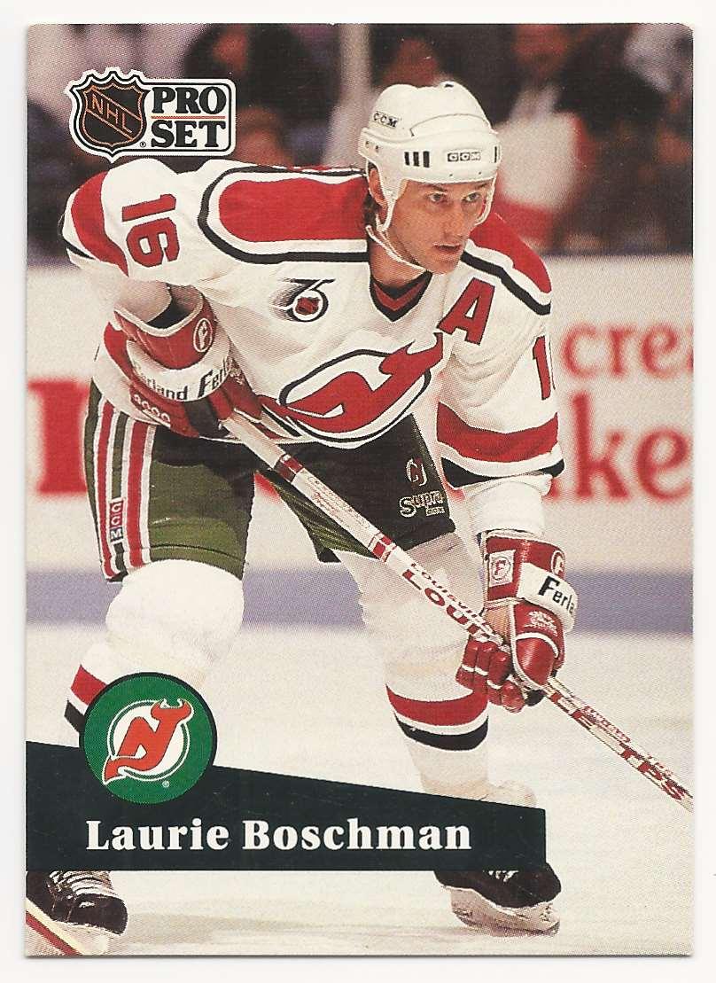 1991-92 Pro Set Laurie Boschman #426 card front image