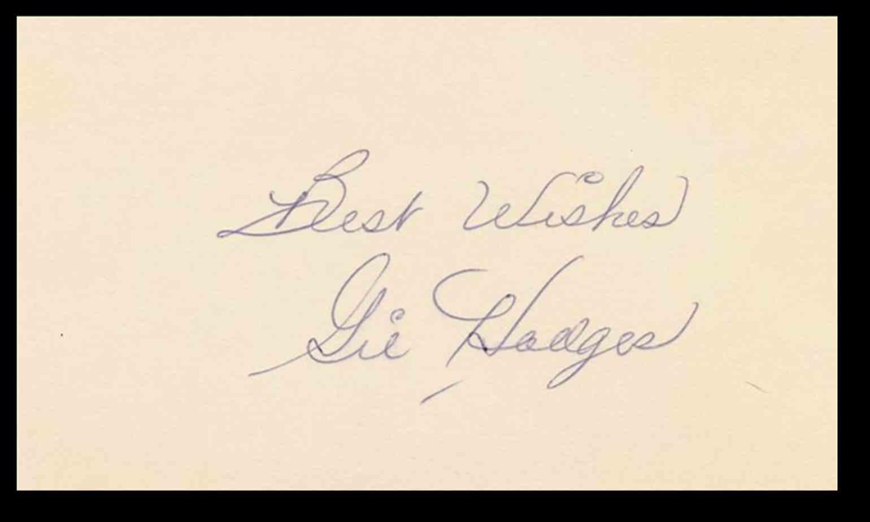 1943 3X5 Gil Hodges card back image