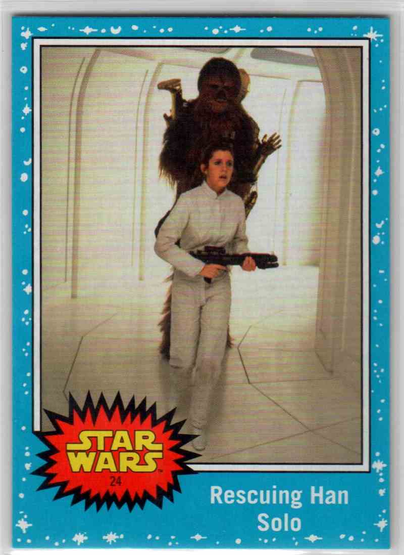 2019 Topps Star Wars Journey To Rise Of Skywalker Rescuing Han Solo #24 card front image