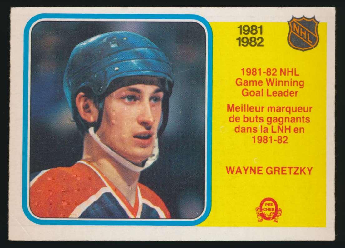 1982-83 OPC Wayne Gretzky Game WInning Goal Leader #242 card front image