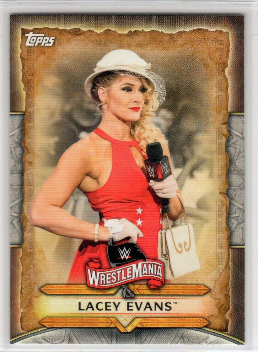 2020 Topps Road To WrestleMania Roster Lacey Evans #WM-32 card front image
