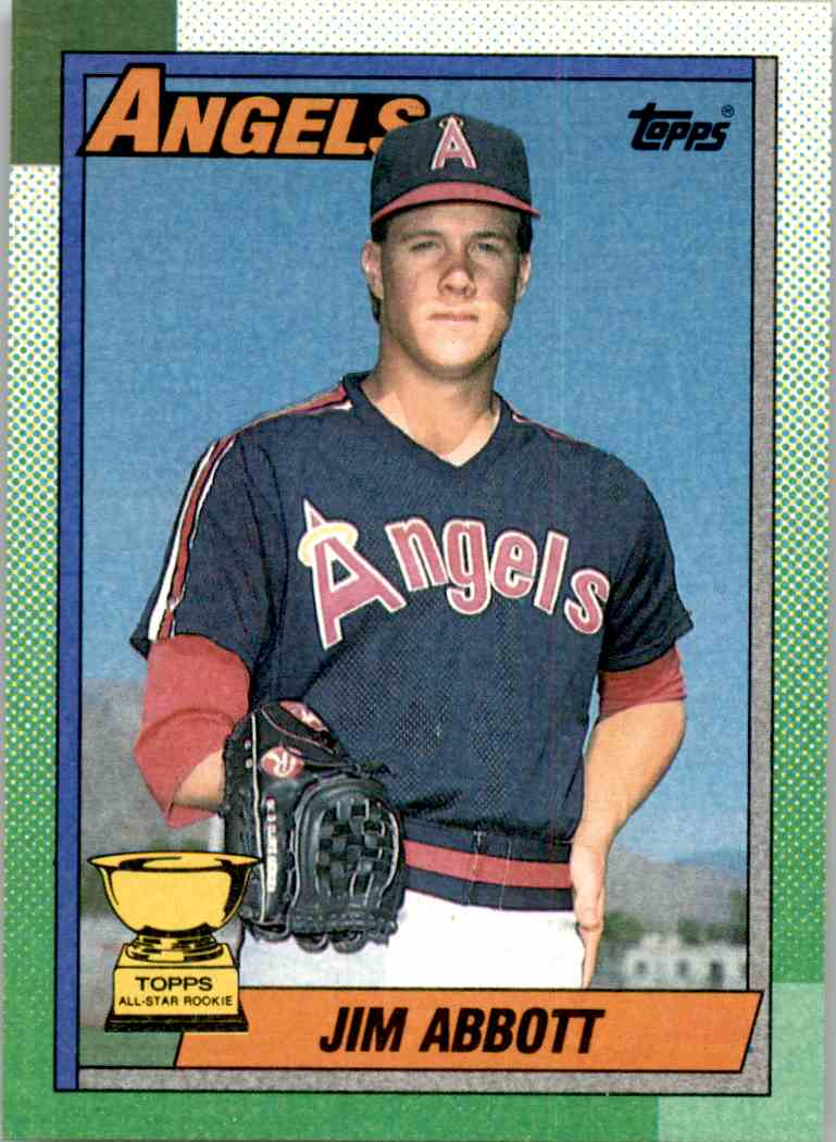 1990 Topps All Star Rookie Jim Abbott 675 On Kronozio