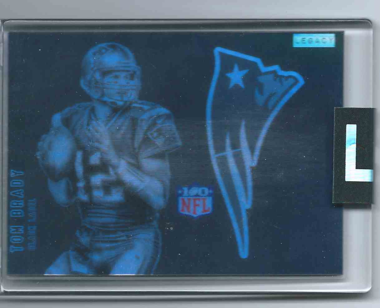 2019 Legacy Black Label Black Label Refractor Uncirculated Tom Brady #TB-12 card front image