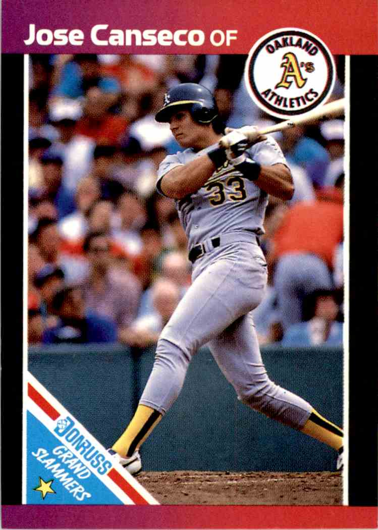 1989 Donruss Grand Slammers Jose Canseco 1 On Kronozio