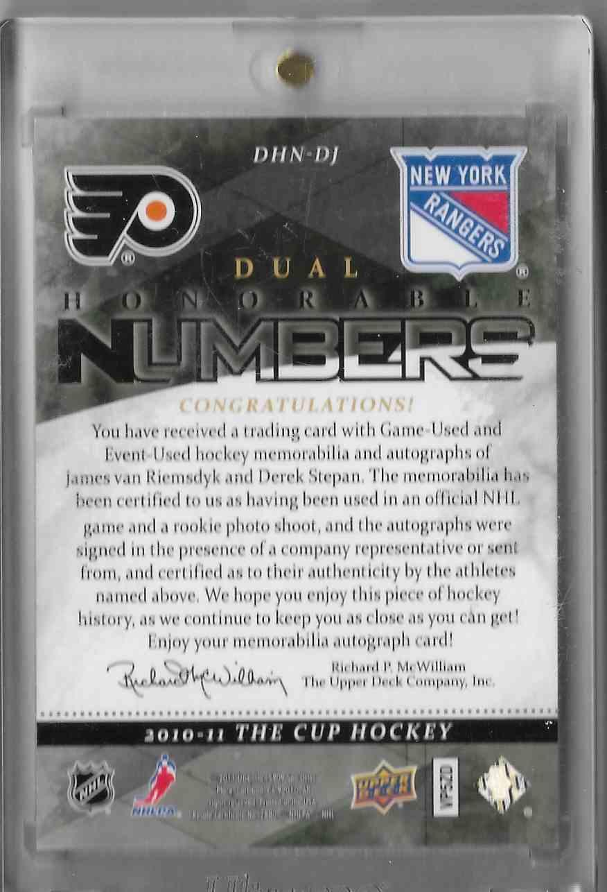 2010-11 UD The Cup Van Riemsdyk Stepan #DHN-DJ card back image