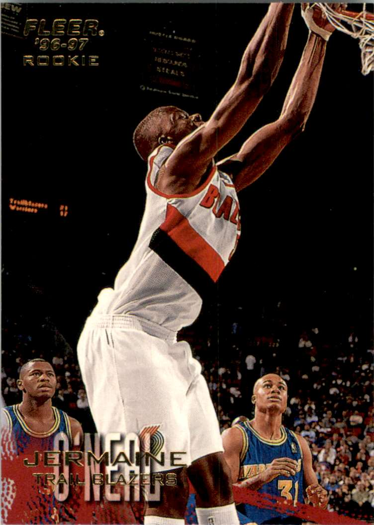 1996-97 Fleer Jermaine O'Neal RC #242 card front image