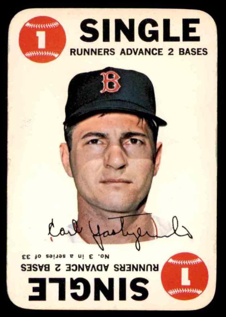 1968 Topps Game Carl Yastrzemski #3 card front image