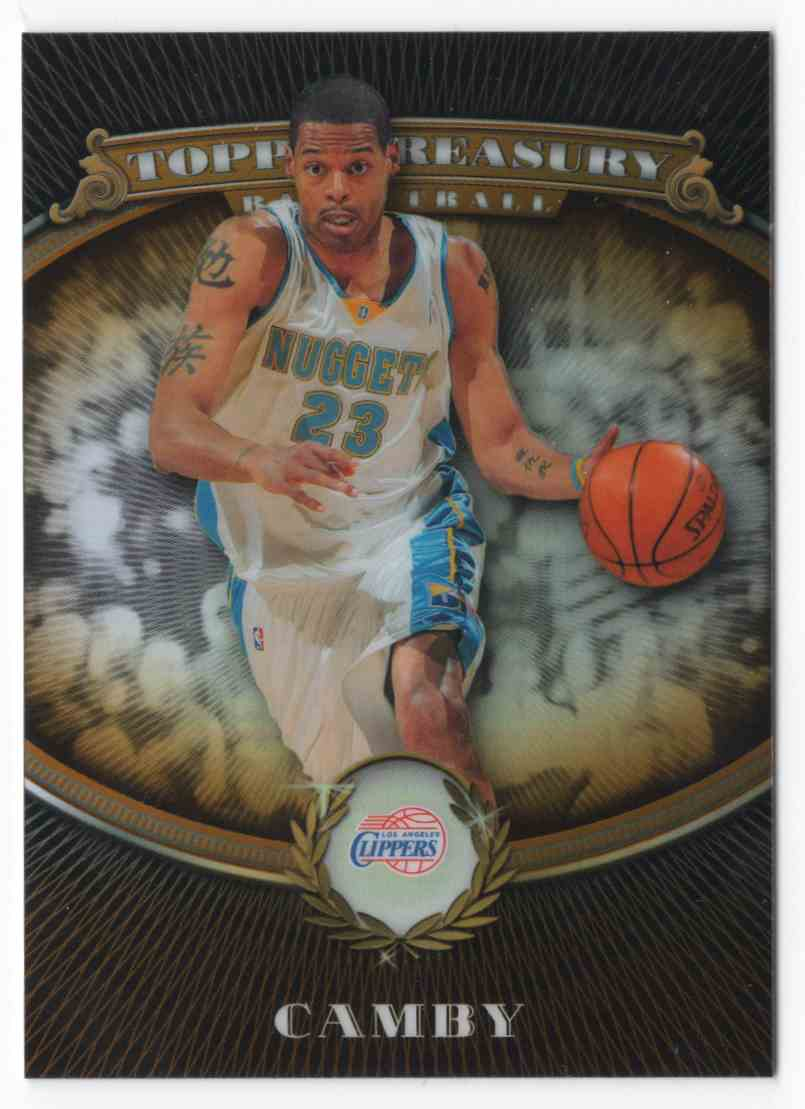 2008-09 Topps Treasury Refractors Bronze Marcus Camby #56 card front image