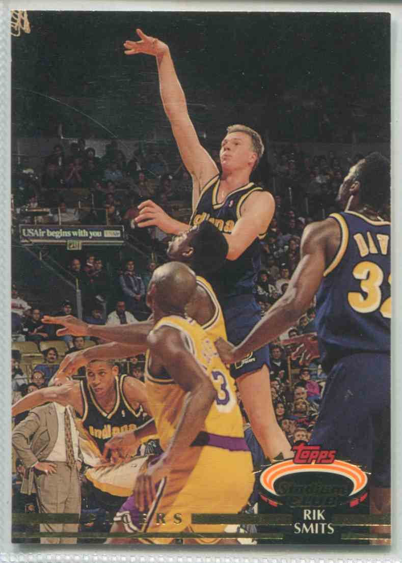 1992 93 Topps Stadium Club Rik Smits 43 on Kronozio