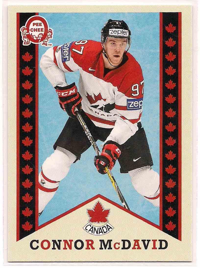2017-18 Upper Deck Team Canada Retro Connor McDavid #R-1 card front image