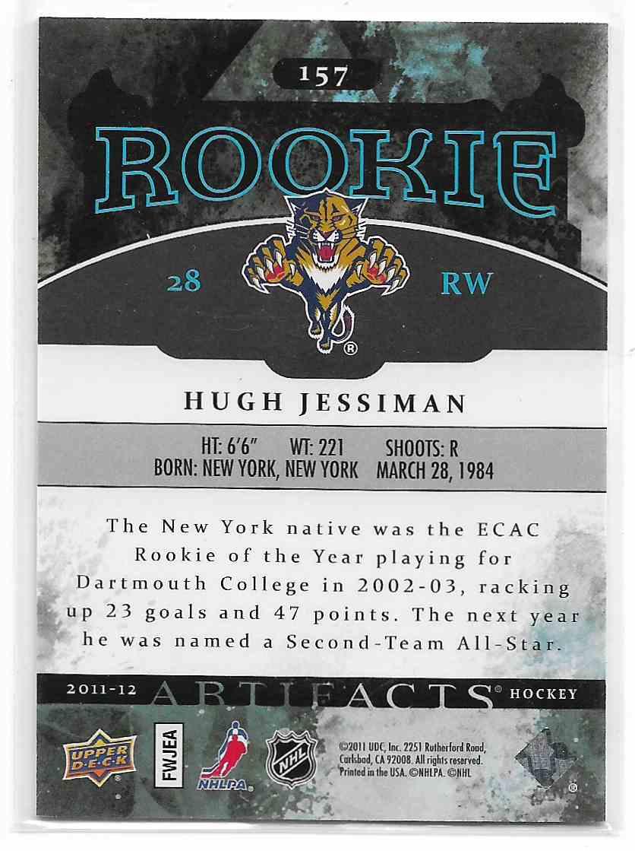 2011-12 Upper Deck Artifacts Hugh Jessiman #157 card back image