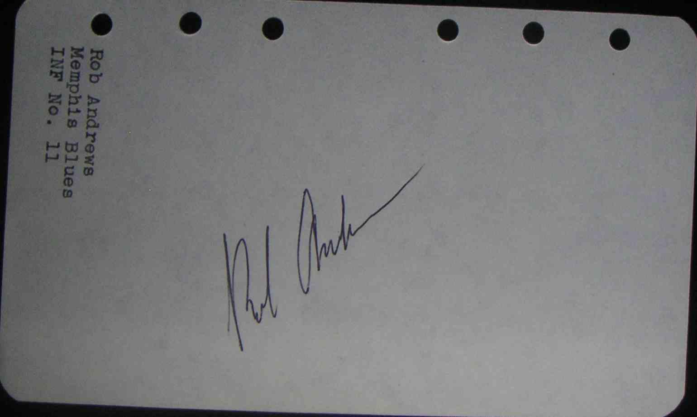 1975 Album Pg Rob Andrews card back image