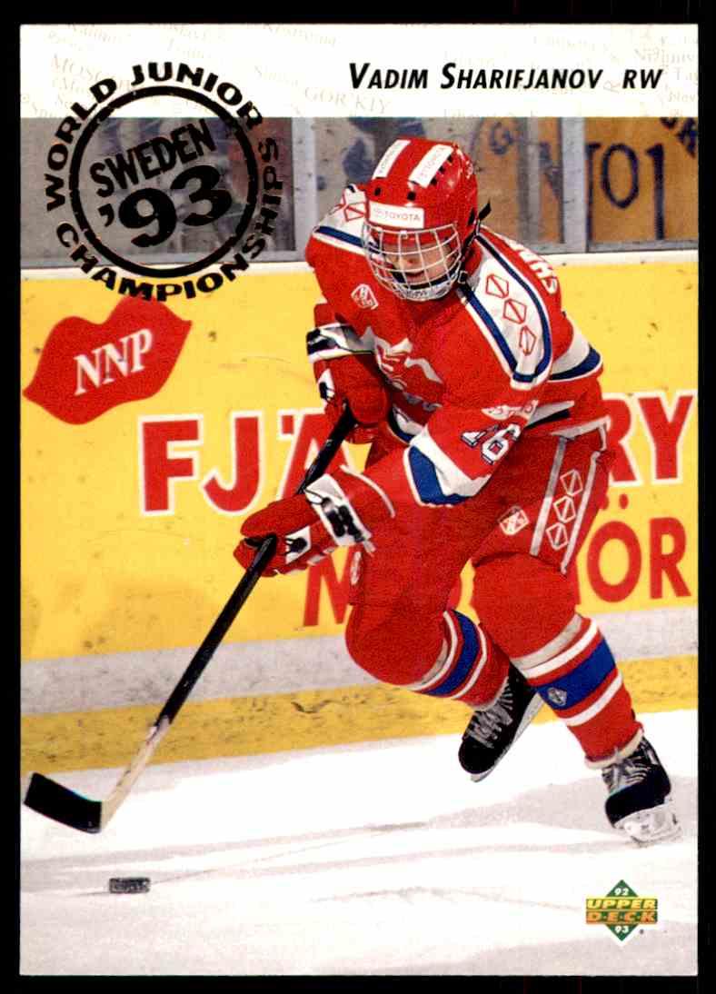 1992 93 Upper Deck Vadim Sharifijanov 612 Card Front Image