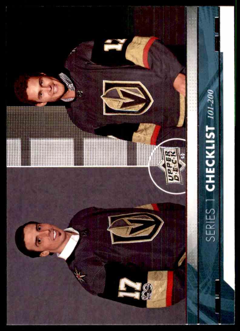 2017-18 Upper Deck Marc-Andre Fleury/Brayden McNabb #200 card front image