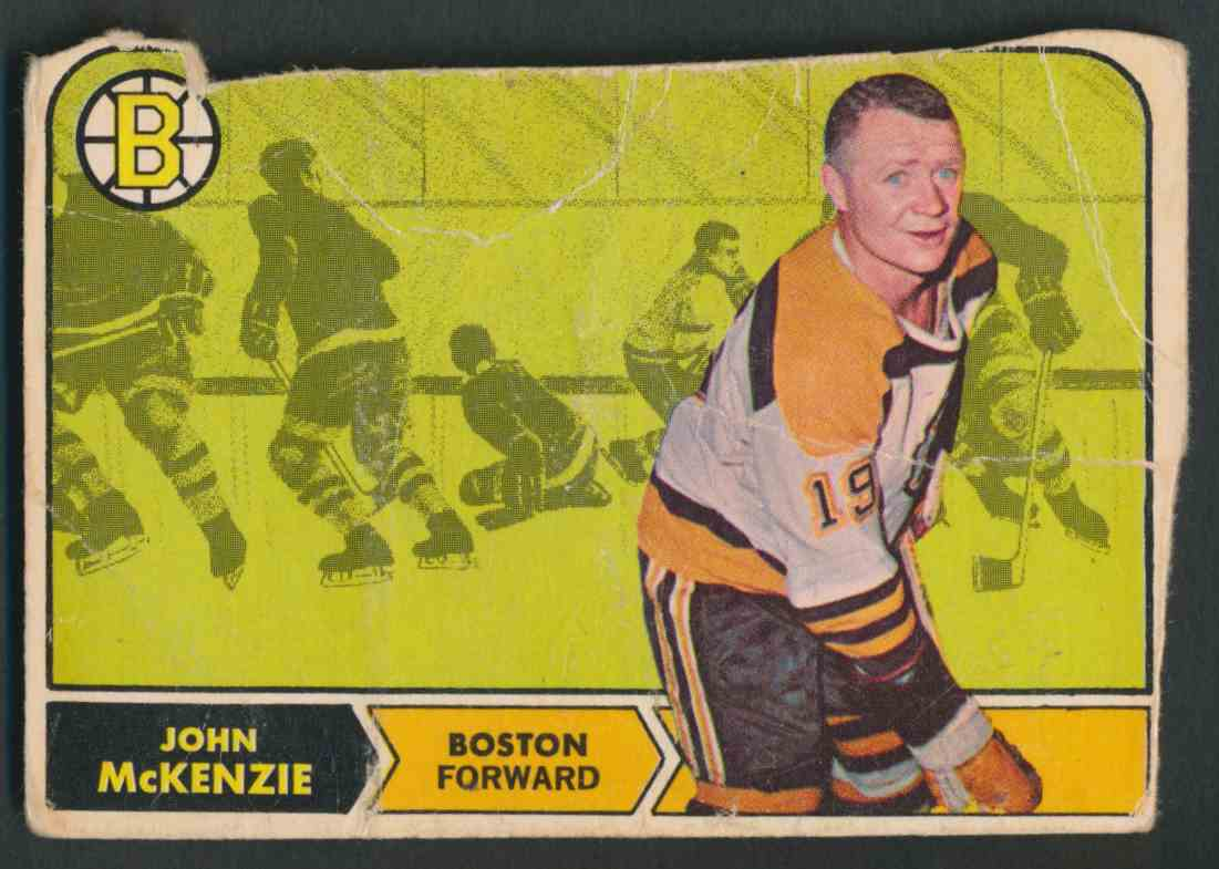 1968-69 O-Pee-Chee Johnny McKenzie #9 card front image