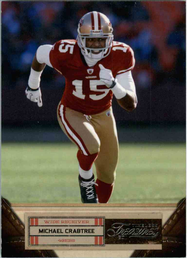 2011 Timeless Treasures Michael Crabtree #67 card front image