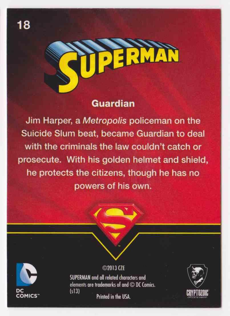 2013 Superman Cryptozoic Superman #18 card back image