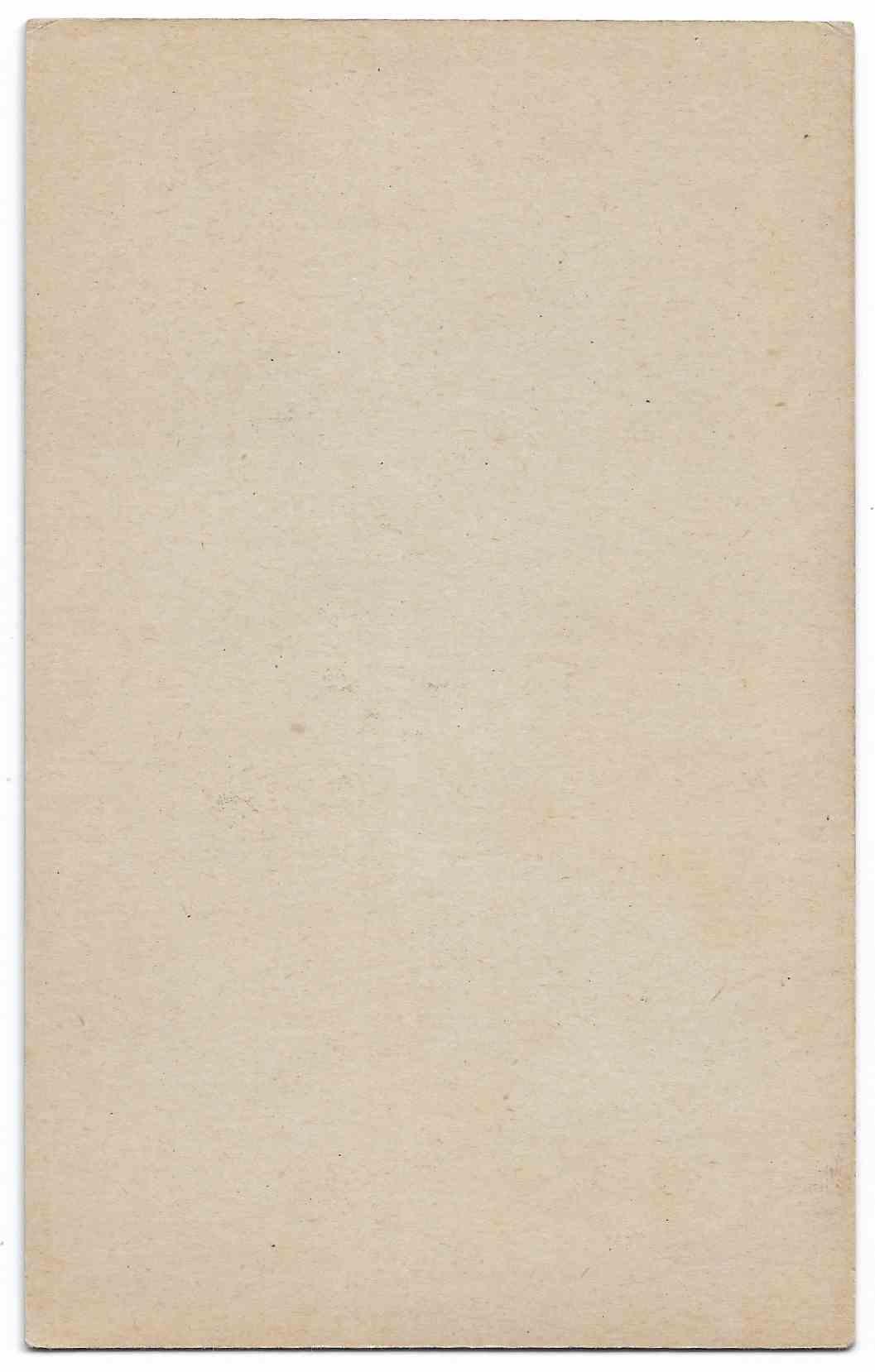 1947 Exhibits Bob Feller card back image