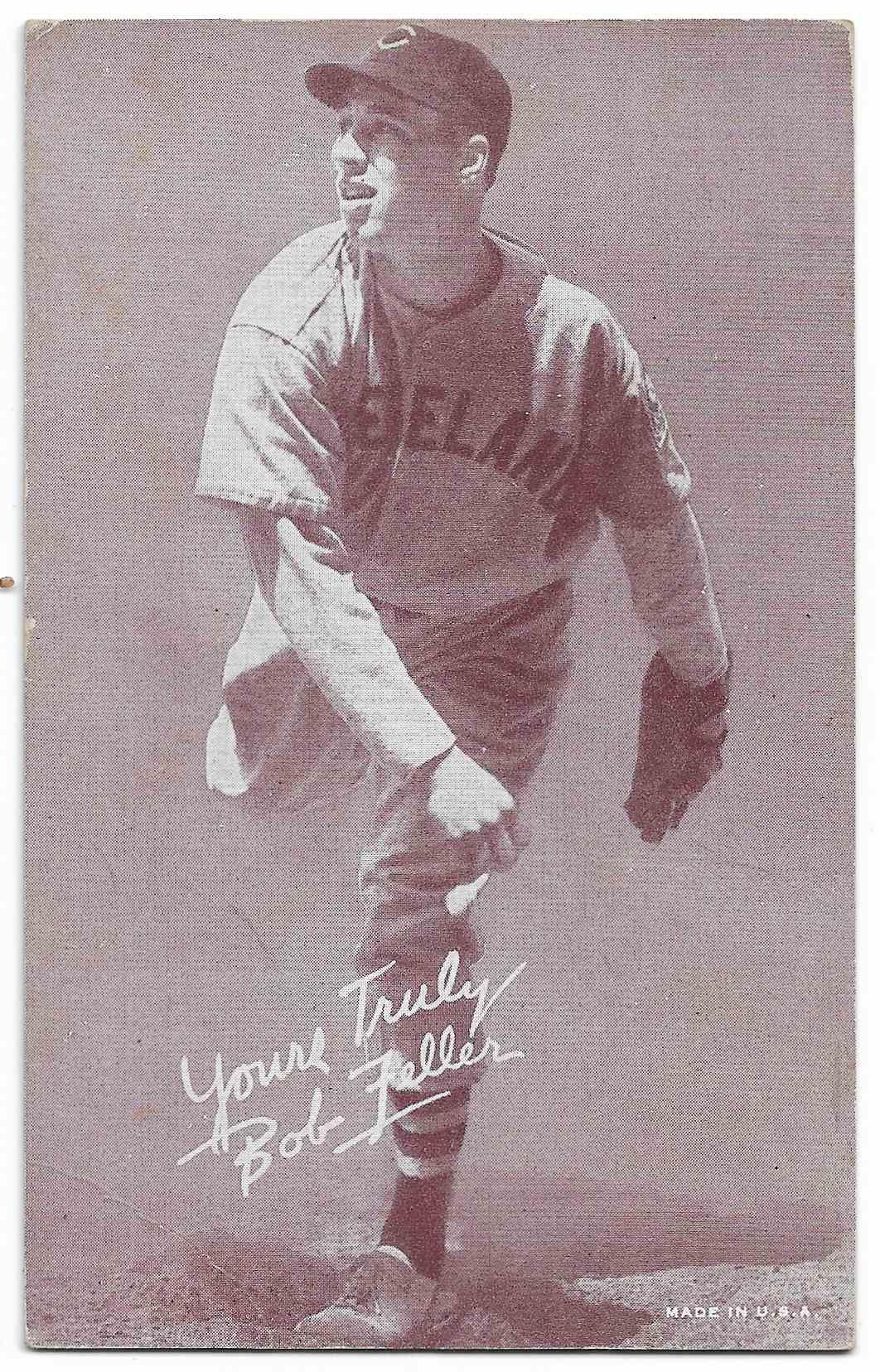 1947 Exhibits Bob Feller card front image