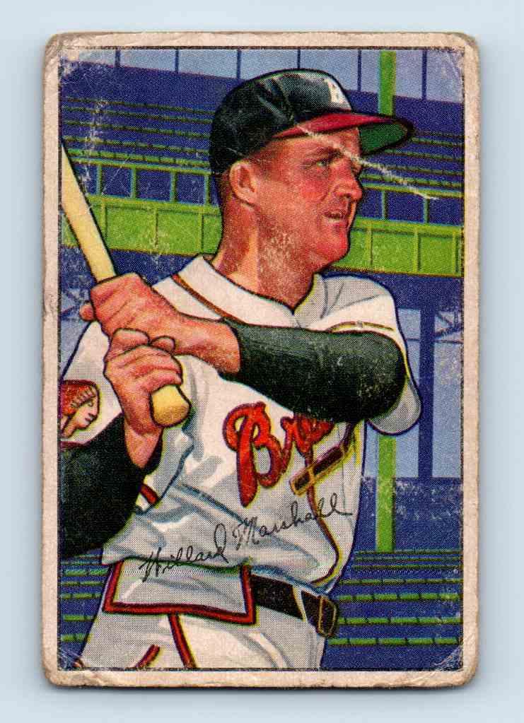 1952 Bowman Willard Marshall #97 card front image