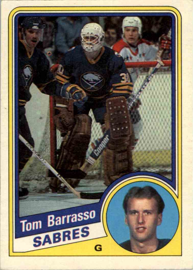 1984-85 O-Pee-Chee Tom Barrasso #18 card front image