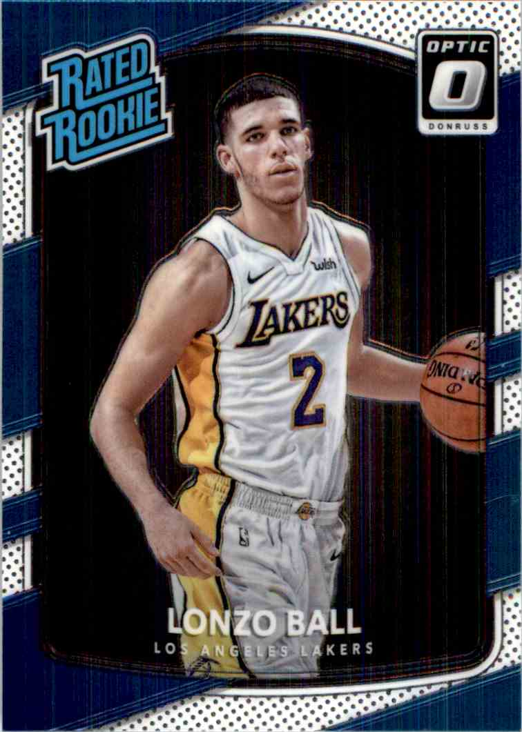 2017-18 Donruss Optic Rated Rookie Lonzo Ball #199 card front image