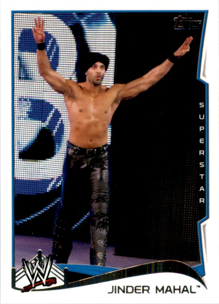 2014 Topps Wwe Jinder Mahal #75 card front image