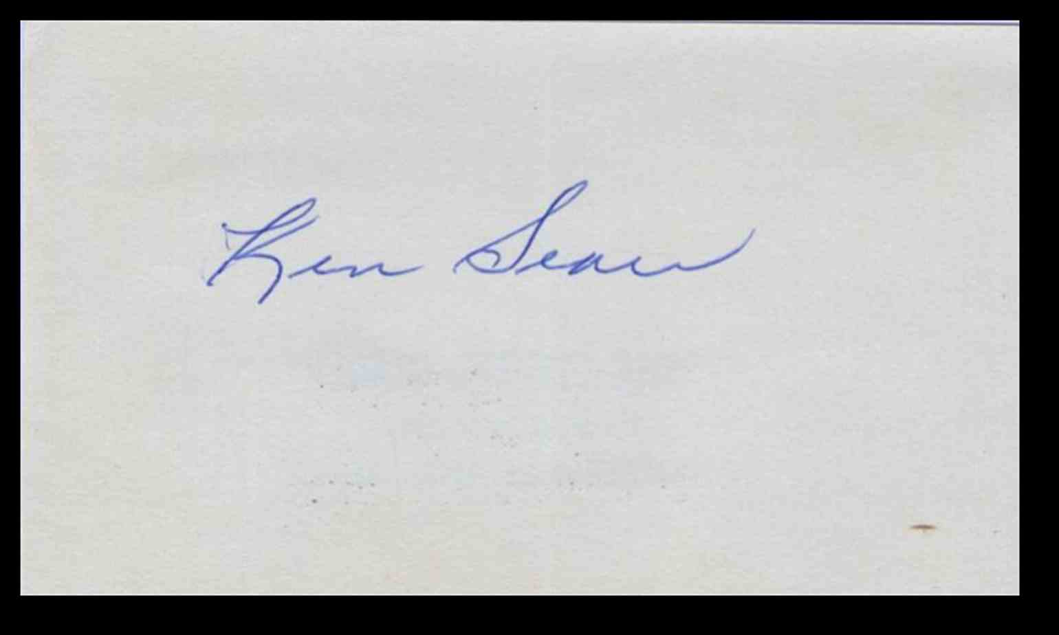 1943 3X5 Ken Sears card front image