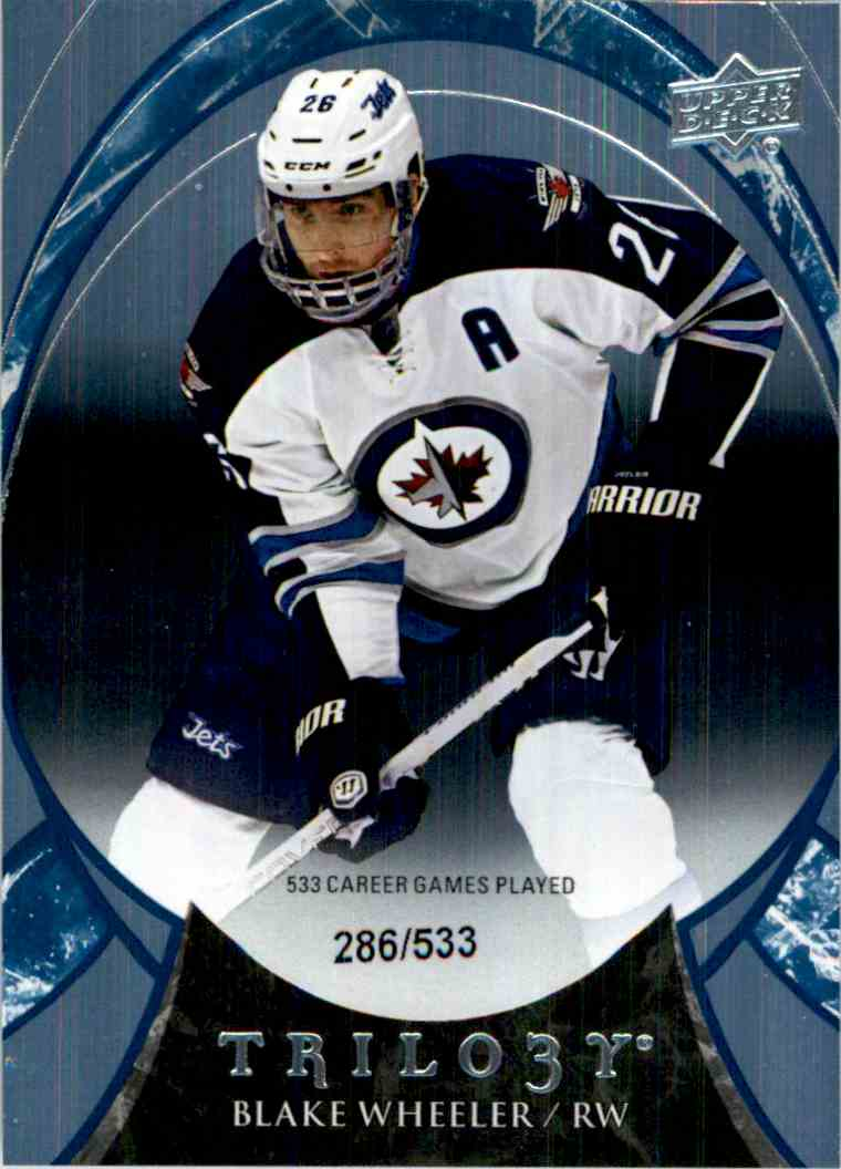 2015-16 Upper Deck Trilogy Rainbow Blue Blake Wheeler #88 card front image