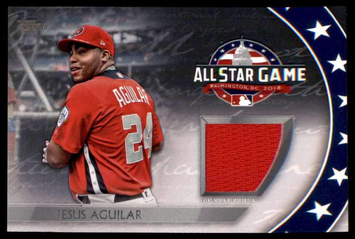 2018 Topps Update Series All-Star Stitches Jesus Aguilar #AST-JG card front image