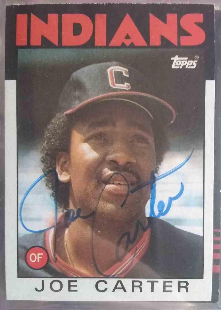 1986 Topps Joe Carter #377 card front image