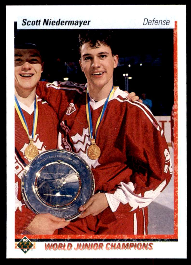 1990-91 UD Scott Niedermayer #461 card front image