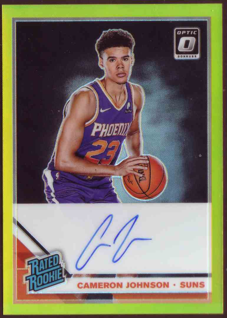 2019-20 Donruss Optic Rated Rookie Signatures Gold Cameron Johnson #200 card front image