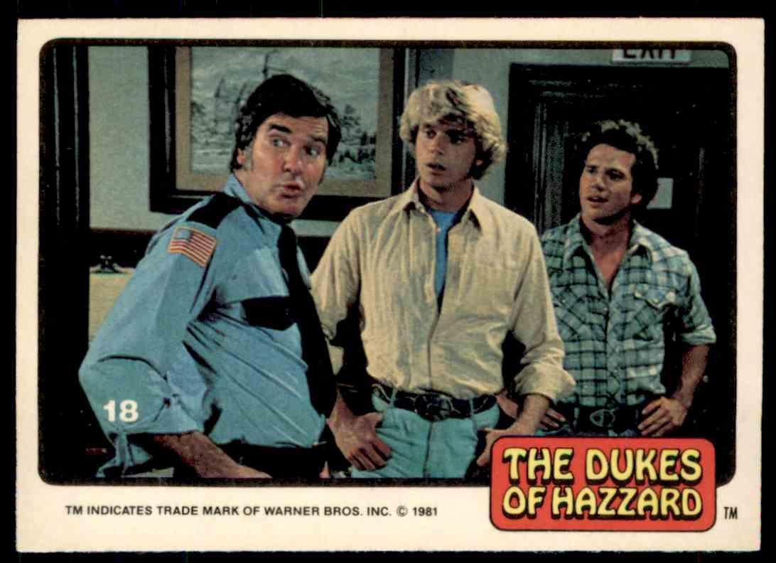 1981 Donruss Dukes Of Hazzard Card No. 18 #18 card front image