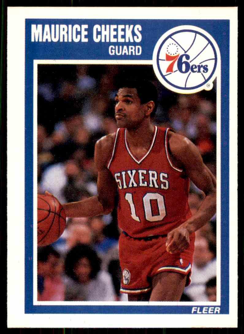 268348082019 1989-90 Fleer Maurice Cheeks Philadelphia 76ers  115