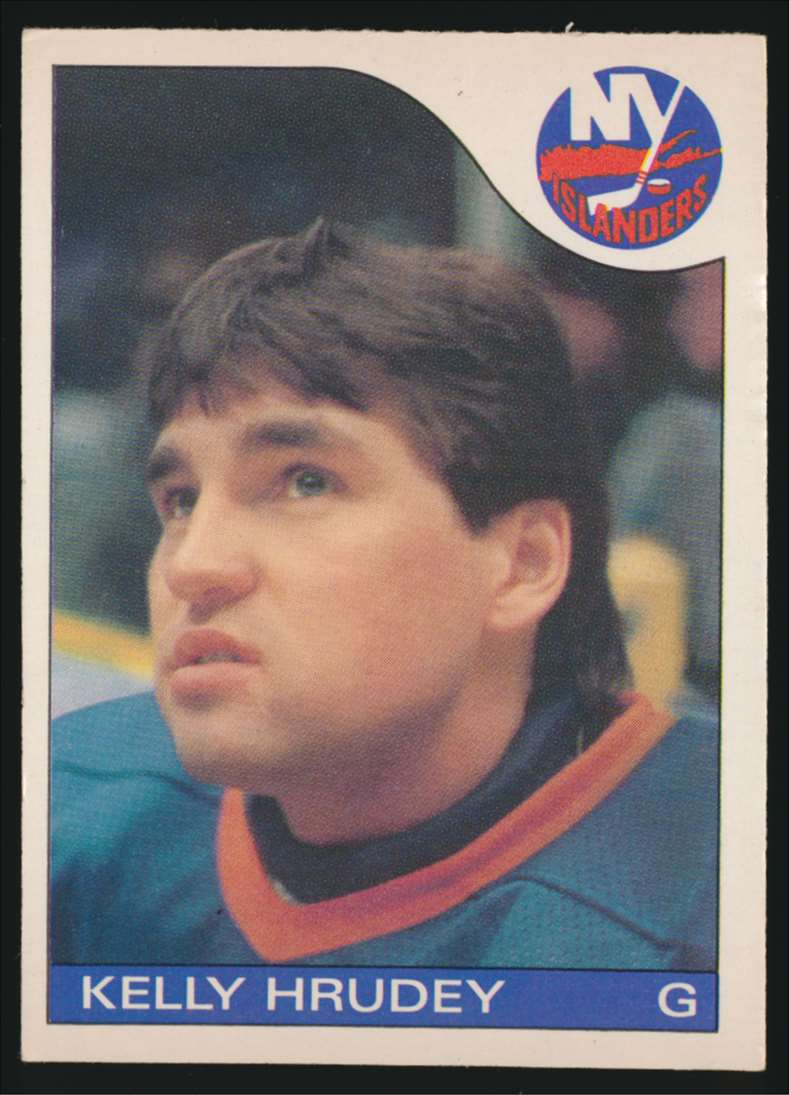 1985-86 OPC Kelly Hrudey #122 card front image