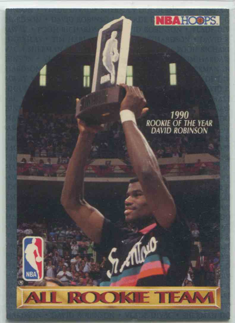 1990 91 Nba Hoops All Rookie Team David Robinson Nno