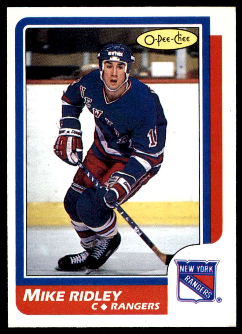 1986-87 OPC Mike Ridley #66 card front image
