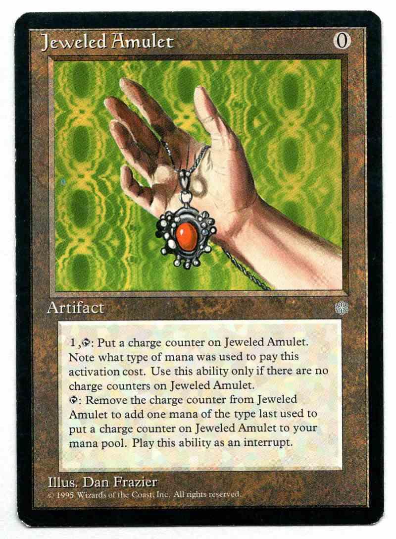 1995 Ice Age Jeweled Amulet card front image
