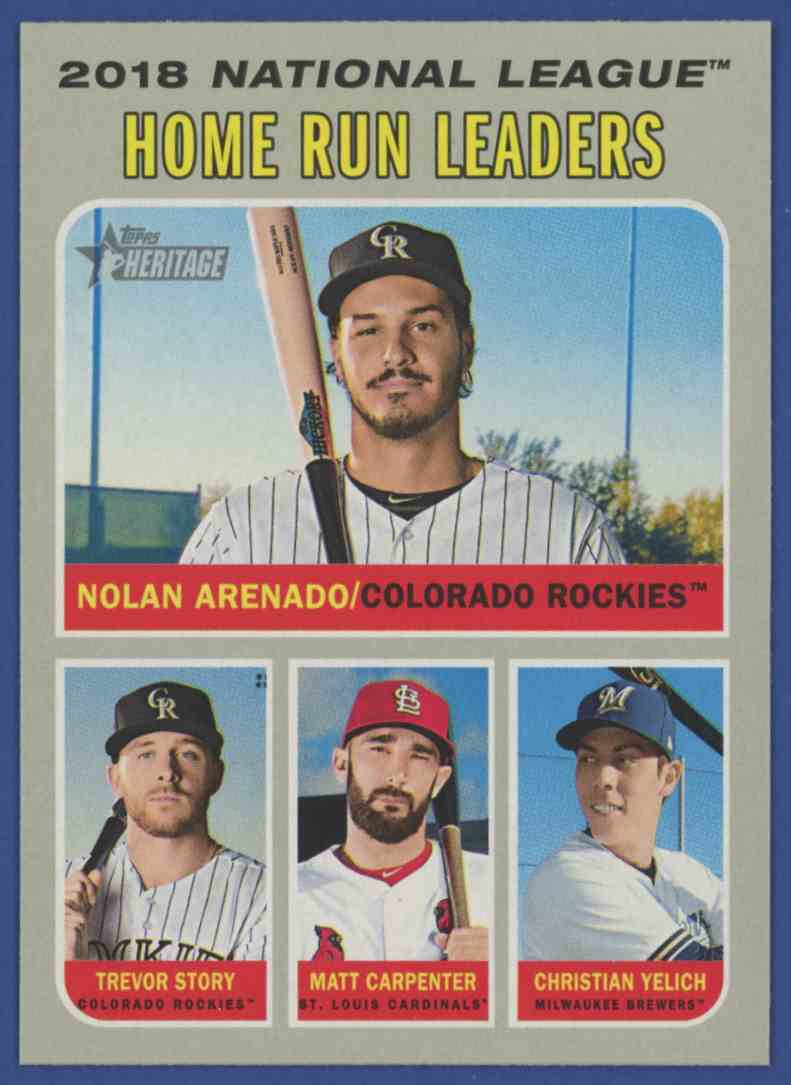2019 Topps Heritage Home Run Leaders Arenado Story Carpenter