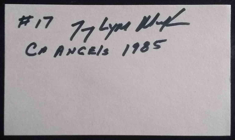 1985 3X5 Tony Mack card back image