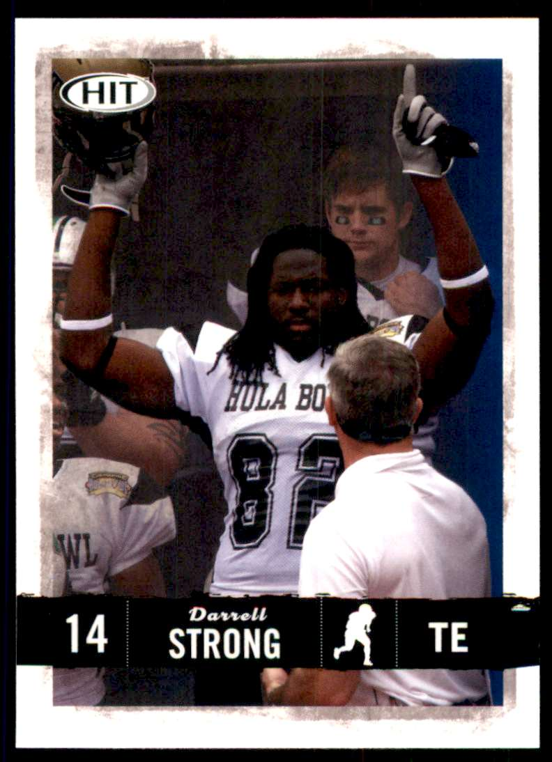 2008 Sage Hit Darrell Strong #74 card front image