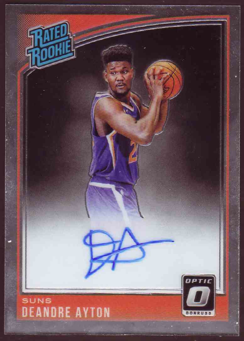 2018-19 Donruss Optic Rated Rookie Signature DeAndre Ayton #157 card front image