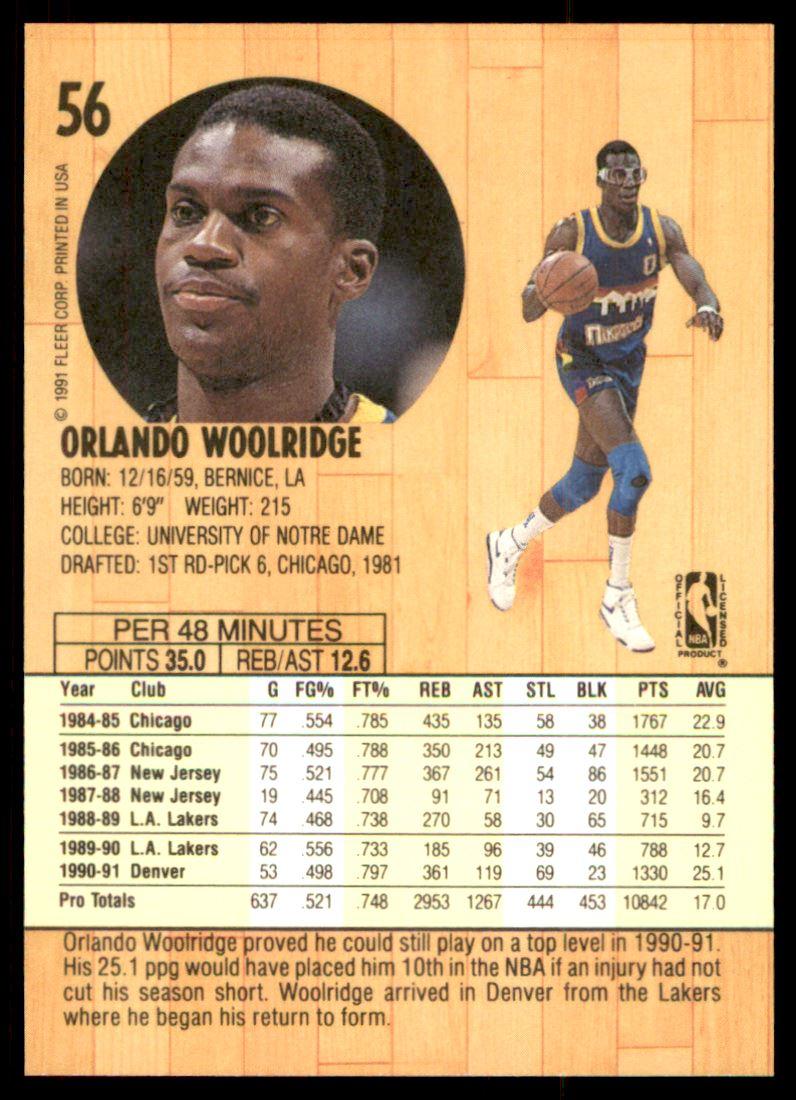 1991 92 Fleer Orlando Woolridge 56 on Kronozio