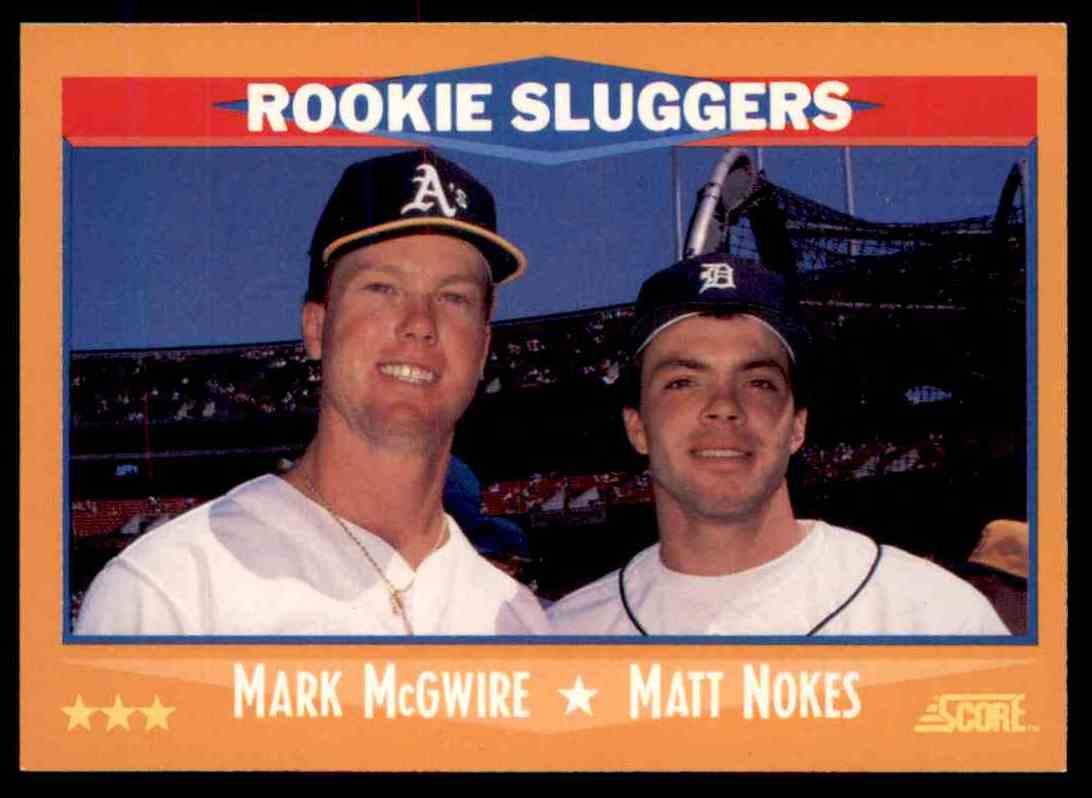 1988 Score Mark Mcgwire Matt Nokes 648 On Kronozio
