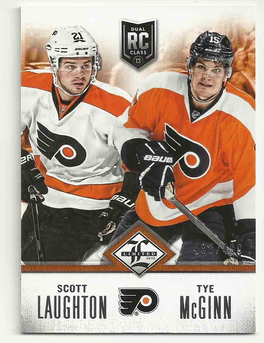 2012-13 Limited Rookie Redemption Scott Laughton/Tye Mcginn #R-PHI card front image
