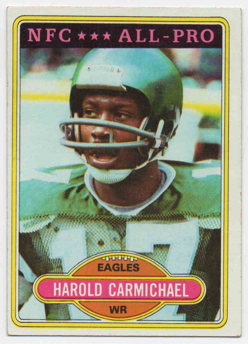 1980 Topps Harold Carmichel #420 card front image