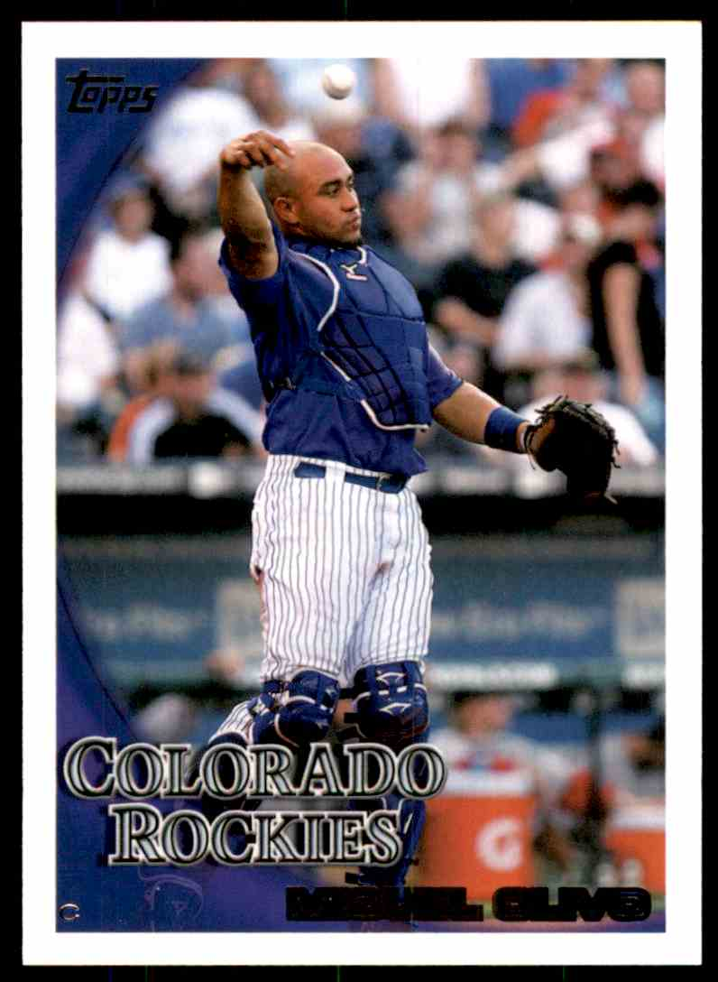 2010 Topps Miguel Olivo #445 card front image