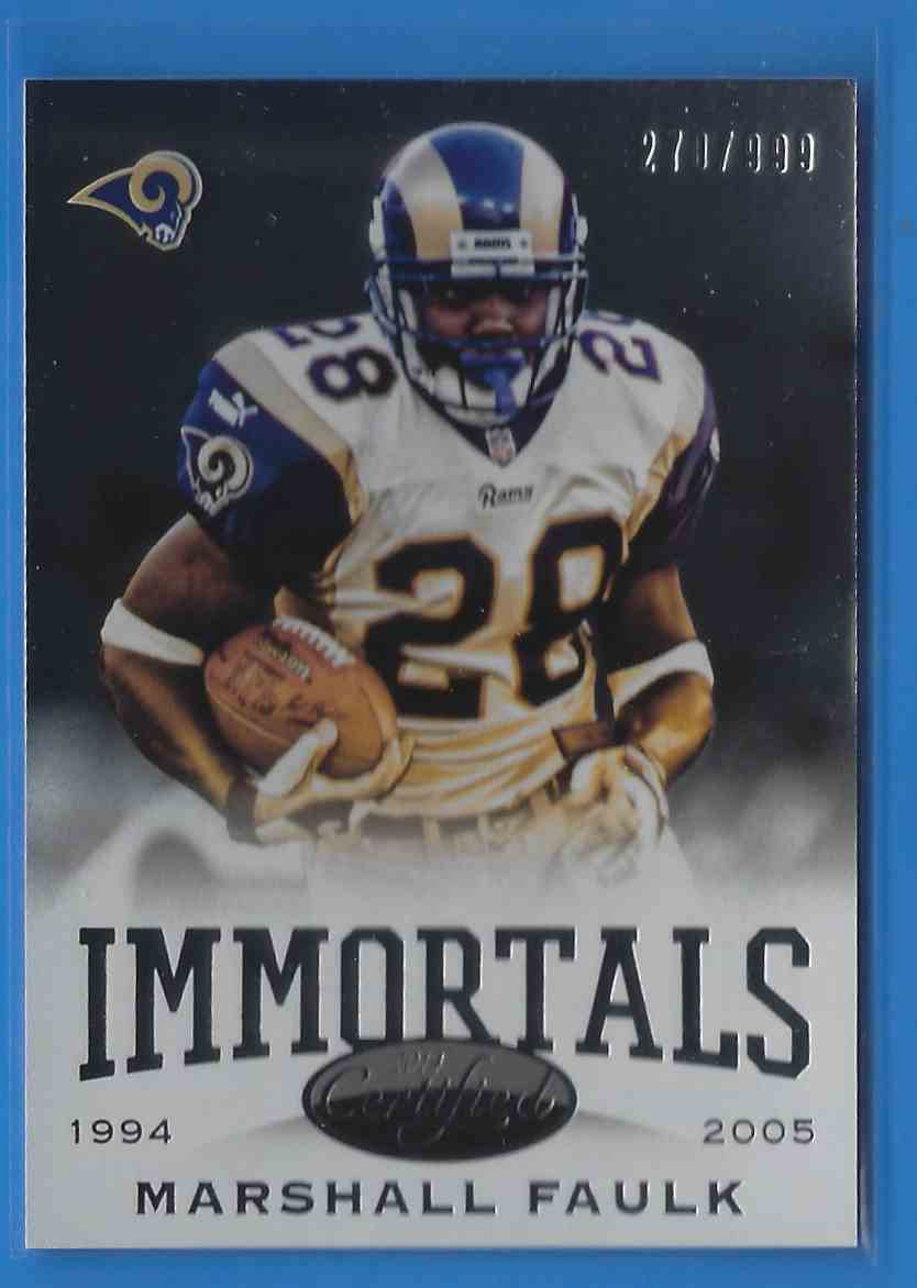 2014 Certified Marshall Faulk IMM #194 card front image