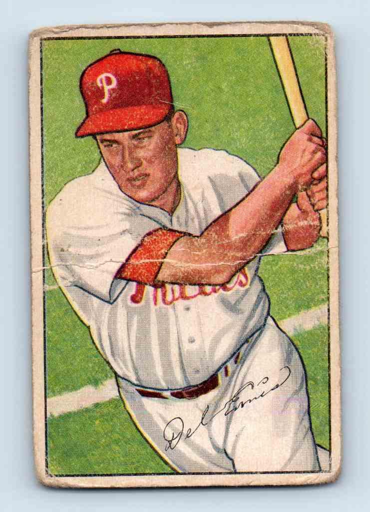 1952 Bowman Del Ennis #76 card front image